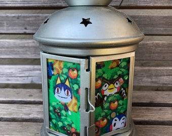Fun Animal Crossing Lantern, Nightlight.   Perfect for bedside or bathrooms, includes battery tea light