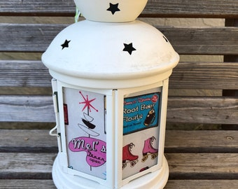 50's diner, Mel's Lantern, Nightlight.   Perfect for bedside or bathrooms, includes battery tea light