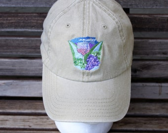 775a67156c0 A wine scene is Embroidered on a Baseball trucker dad Hat Cap