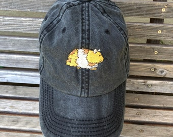 A hamster guinea pig pet is Embroidered on a Baseball Hat Cap, Adjustable hat, adult, dad hat, trucker hat
