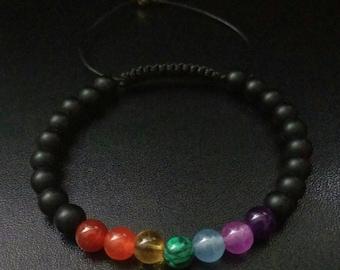 6mm Power Stone Grounding Black Onyx Shamballa Gemstone Macrame Adjustable Straps Bracelet Men Women Couple Gifts Valentine/'s Healing Yoga