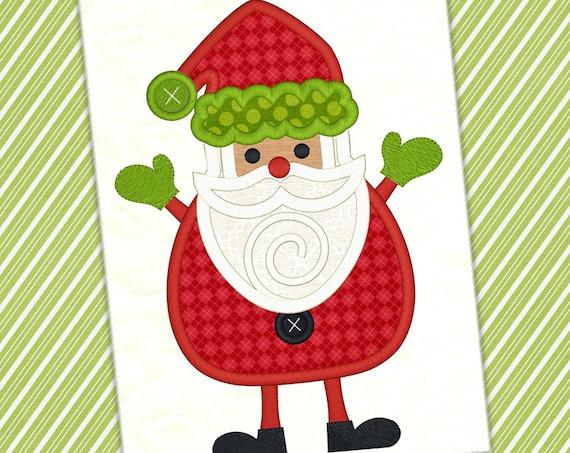 bfd611d05a44b Santa Applique Christmas Embroidery Design Winter Design Santa