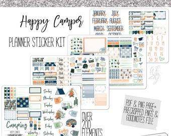 Happy Camper- Planner Sticker Kit