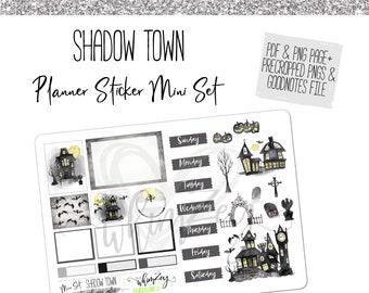 Shadow Town- Mini Planner Sticker Set