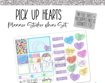 Pick Up Hearts- Mini Planner Sticker Set