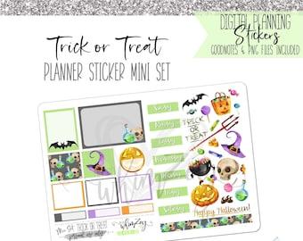Trick or Treat- Mini Sticker Set | Digital Planning