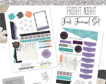 Fright Night- Digital Junk Journal Set| Digital Planning