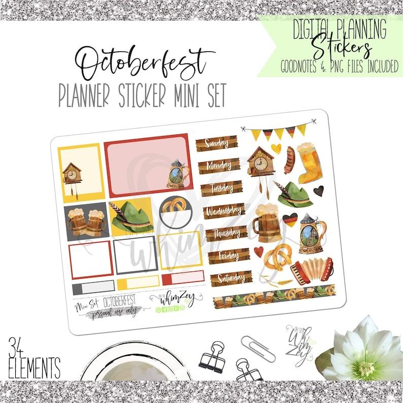 Octoberfest Mini Sticker Set  Digital Planning image 1