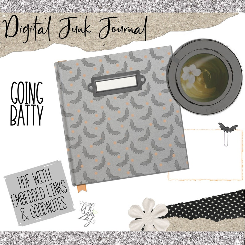 Going Batty  Digital Junk Journal  Digital Planning image 1