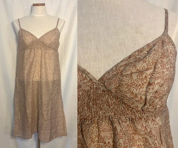 vintage 1990s slip dress // size medium - large //