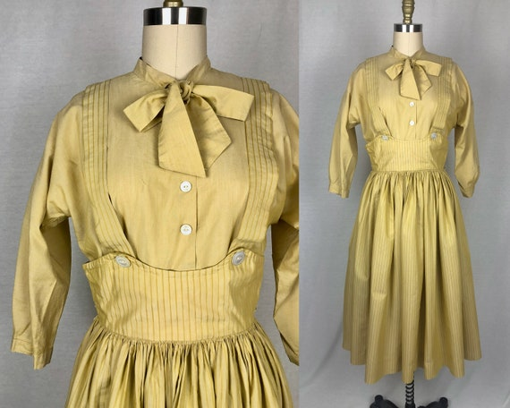 vintage 1940s 1950s dress // size small // 40s 50s