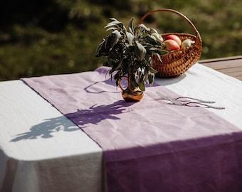 Pink Linen Table Runner - Dusty Pink Linen Table Runner - Lilac Linen - Wedding Table Runner - Easter Table Runner - Christmas Table Runner