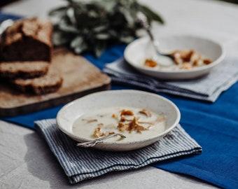 Set of Linen Table Runner Napkins Placemats - Natural Linen Table Runner - Custom Table Runner - Easter Table Runner - Christmas Table Set