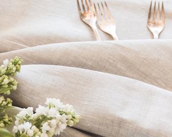 Linen Tablecloth - Light Grey Linen Tablecloth - Wedding Linen Tablecloth - Elegant Linen Tablecloth - Christmas Tablecloth - Rustic Decor