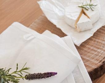 Linen Tea Towel Set of 2 4 6 - Heavy Linen Hand Towel - Gray Washed Linen Tea Towel -Linen Dish Towel - Linen Softened Towel - Rough Linen