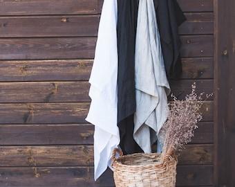 Large Linen Waffle Towel Set - Pure Linen Bath Towels - Natural Towels - Pure Linen Bath Towel - Sauna linen towel sheet -Linen Face Towels