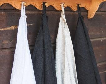 Linen Bath Towel Set - Waffle linen towel - Grey linen bath towel - Sauna linen towel - Pure linen towel - Beach blanket - Baby bath towel