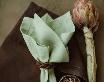 Dark Grey Linen Tablecloth of natural linen flax, Wedding Linen Tablecloth,  Elegant Linen Tablecloth, Wedding Decoration, Christmas decor