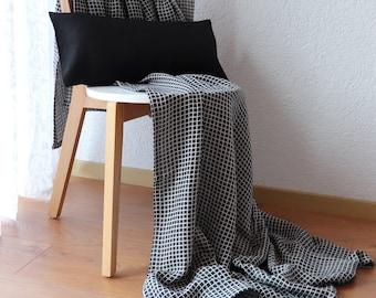 Natural Linen Blanket - Softened Linen Throw Blanket - Summer Blanket - Plaid Blanket - Linen Bed Cover - Beach Blanket - Bedspread - Gift