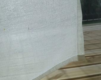Natural Linen Curtain - Sheer Linen Curtain - Sea House Window Linen Curtain - Kitchen Panel - Light Privacy Window Shad- Cafe Linen Curtain