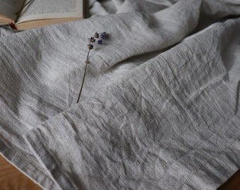 Oatmeal Linen Blanket, Pure Linen Throw Blanket, Thick Linen Summer Blanket, Undyed Linen, Thick Linen Bed Cover, Beach Blanket, Bedspread