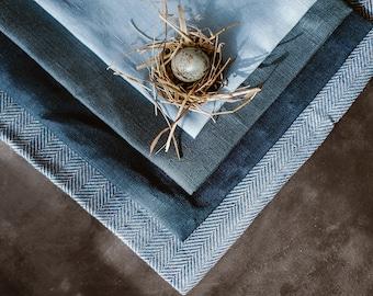 Blue Linen Tablecloth - Sky Blue Linen Tablecloth - Wedding Tablecloth - Blue Wedding Decor - Birtday Table Decor - Christmas Decor - Gift