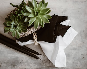 Pure Linen Napkin Set of 4 6 8 10 - White Napkins - Washed Linen - Softened Linen - Farmhouse Linen Napkins - Easter Table - Table Decor
