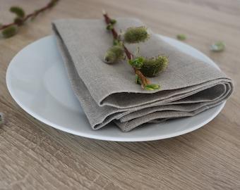 Linen dinner napkins 100, Wedding linen napkins, Gray linen napkins of pure linen, White wedding napkins, Elegant wedding napkins, Wholesale