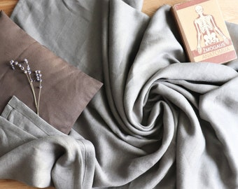 Thick linen blanket in grey colour, Soft linen throw blanket, Pure linen summer cover, Organic linen summer cover, Natural linen bedspread