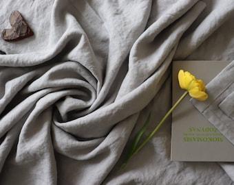 Light grey linen blanket, Soft linen throw blanket, Summer blanket, Gray linen, Thick linen bed cover, Beach blanket, Bedspread, Gift idea