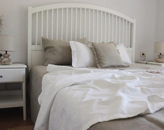 White Pure Linen Blanket, Linen Throw Blanket, Linen Bed Cover, Linen Summer Blanket, Baby Blanket, Beach Blanket, Summer Cover, Gift Idea
