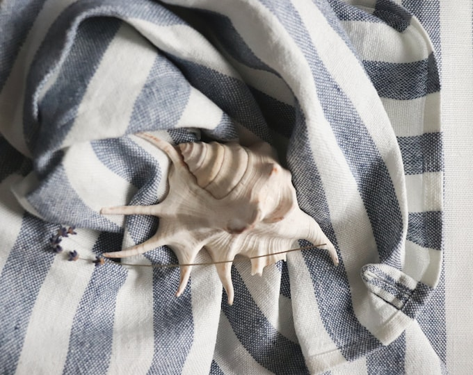 Striped linen bath towel, Pure linen towel, Travelling linen towels, Beach linen sheet, Linen bath sheet, Large linen bath towel, Gift idea