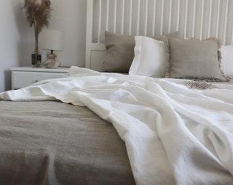 LINEN SUMMER COVER. Linen throw. 100% linen blanket. Twin size, queen size. Summer linen coverlet. Stonewashed bed throw. Pure linen blanket
