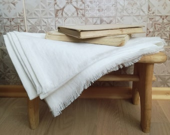 Linen Blanket With Fringes - Linen Throw Blanket - Soft Linen Blanket - Linen Bed Cover - Beach Blanket - Linen Bedspread - Birthday Gift