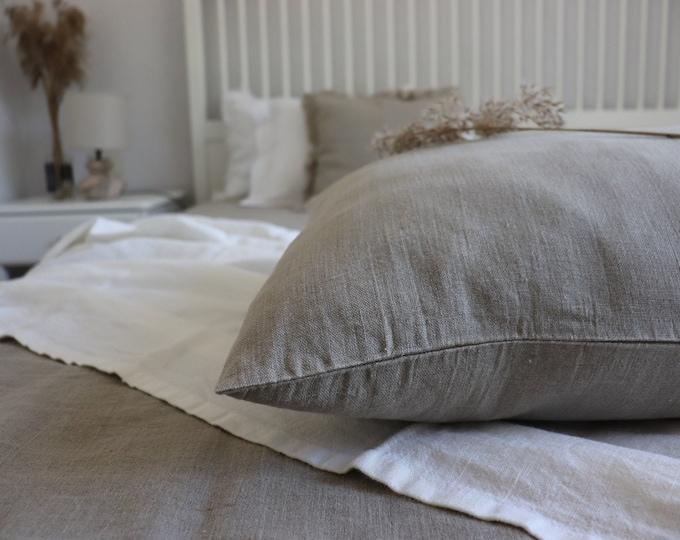 Linen Body Pillow Cover, Linen Pillowcase, Pregnancy Pillow Covers, Linen Bedding, Soft linen pillowcase of natural flax, Pure linen pillow