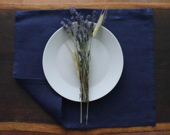 Linen Placemat Set 6 8 10 of organic natural linen flax, Linen Placemat in custom color, Rustic Linen Placemat, Pure Linen of Natural Flax