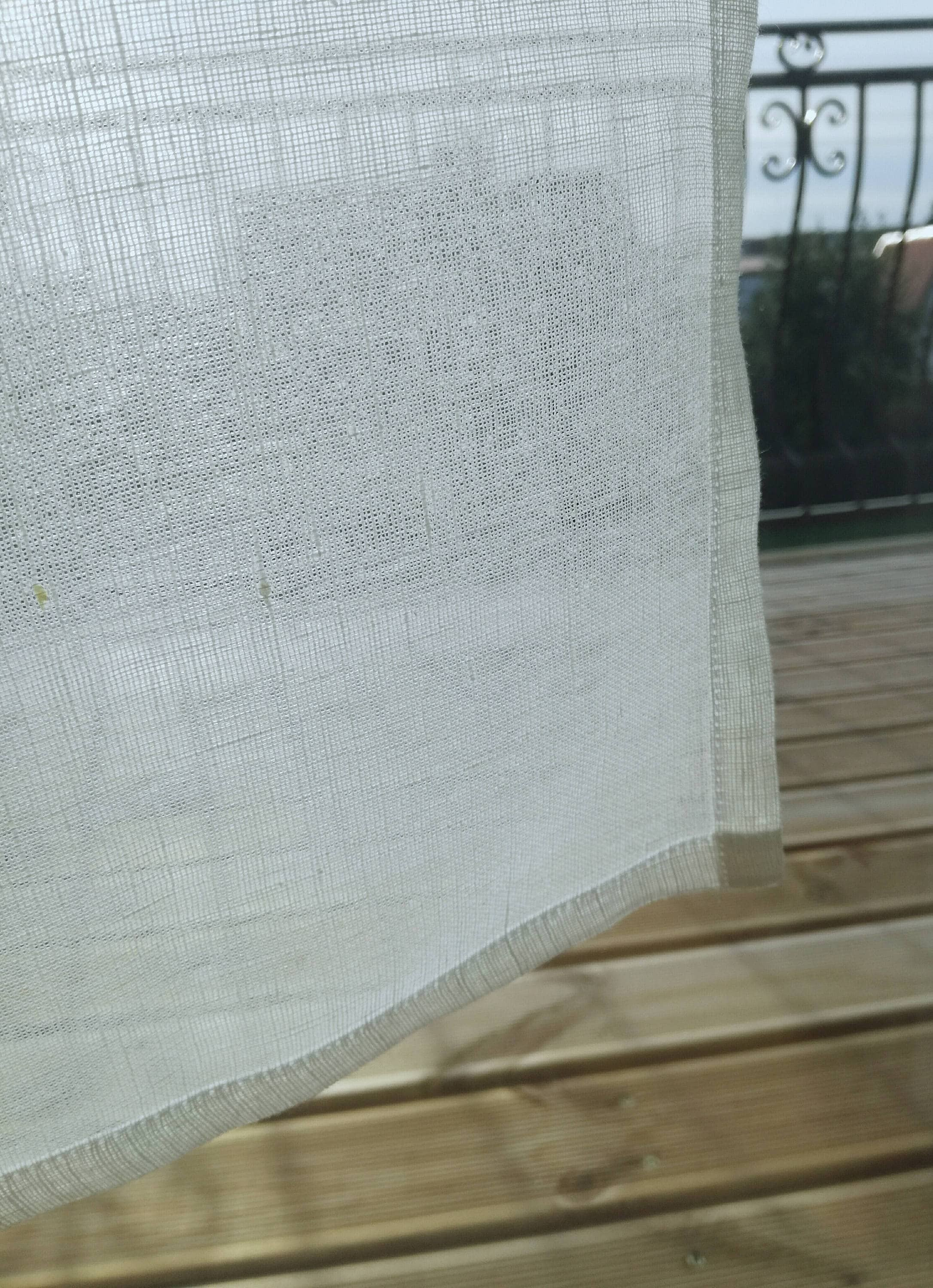Natural Linen Curtain Sheer Linen Curtain Sea House Window Linen Curtain Kitchen Panel Light Privacy Window Shad Cafe Linen Curtain