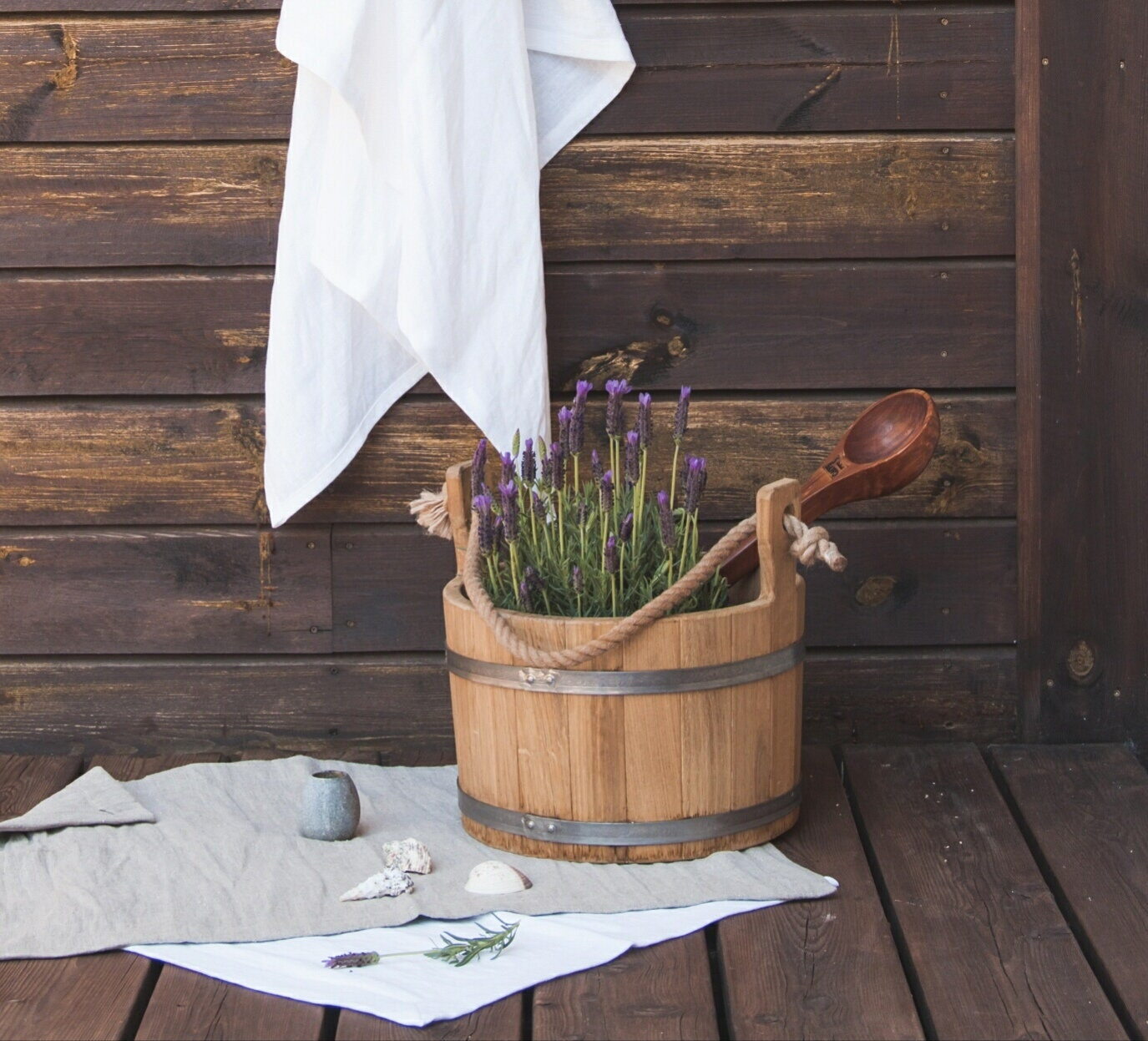 Organic Cotton Belgium Linen Bath Rug: Organic Bath Mat And Towels