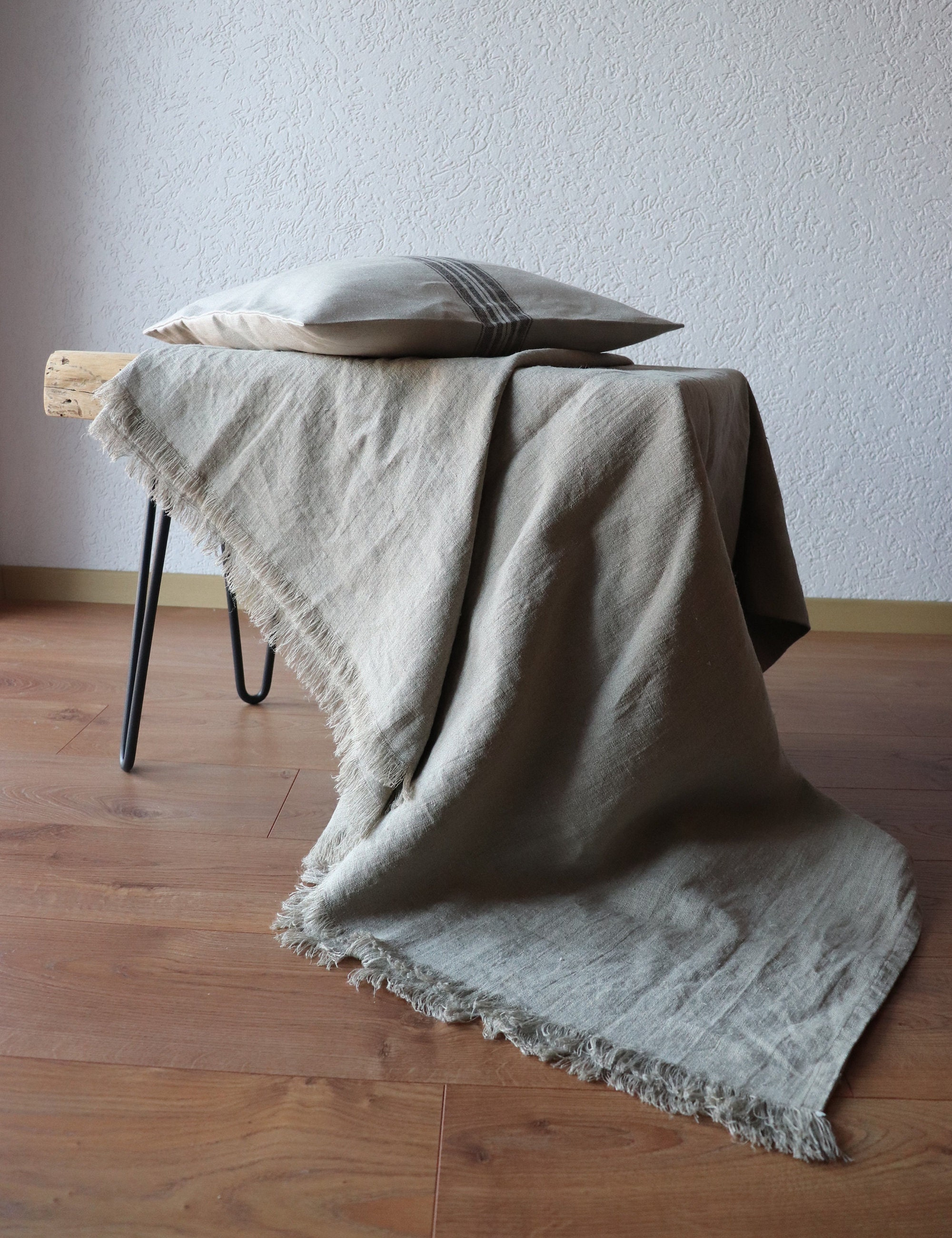Linen Throw Blanket For Summer Made Of Natural Flax