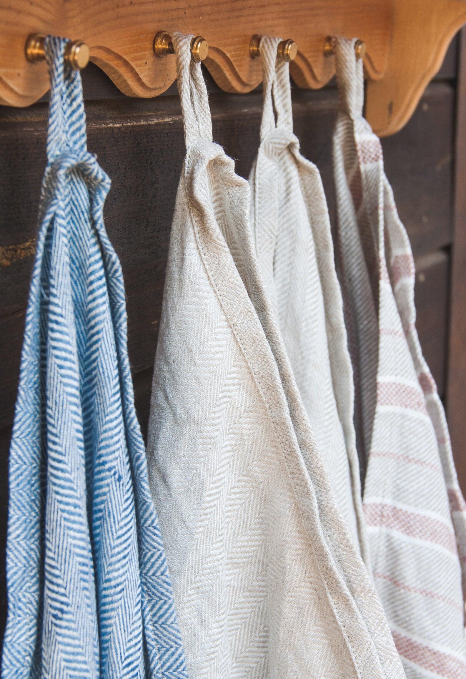 Organic Bath Towels Bath Mat Linen Bathroom Set Blue Linen