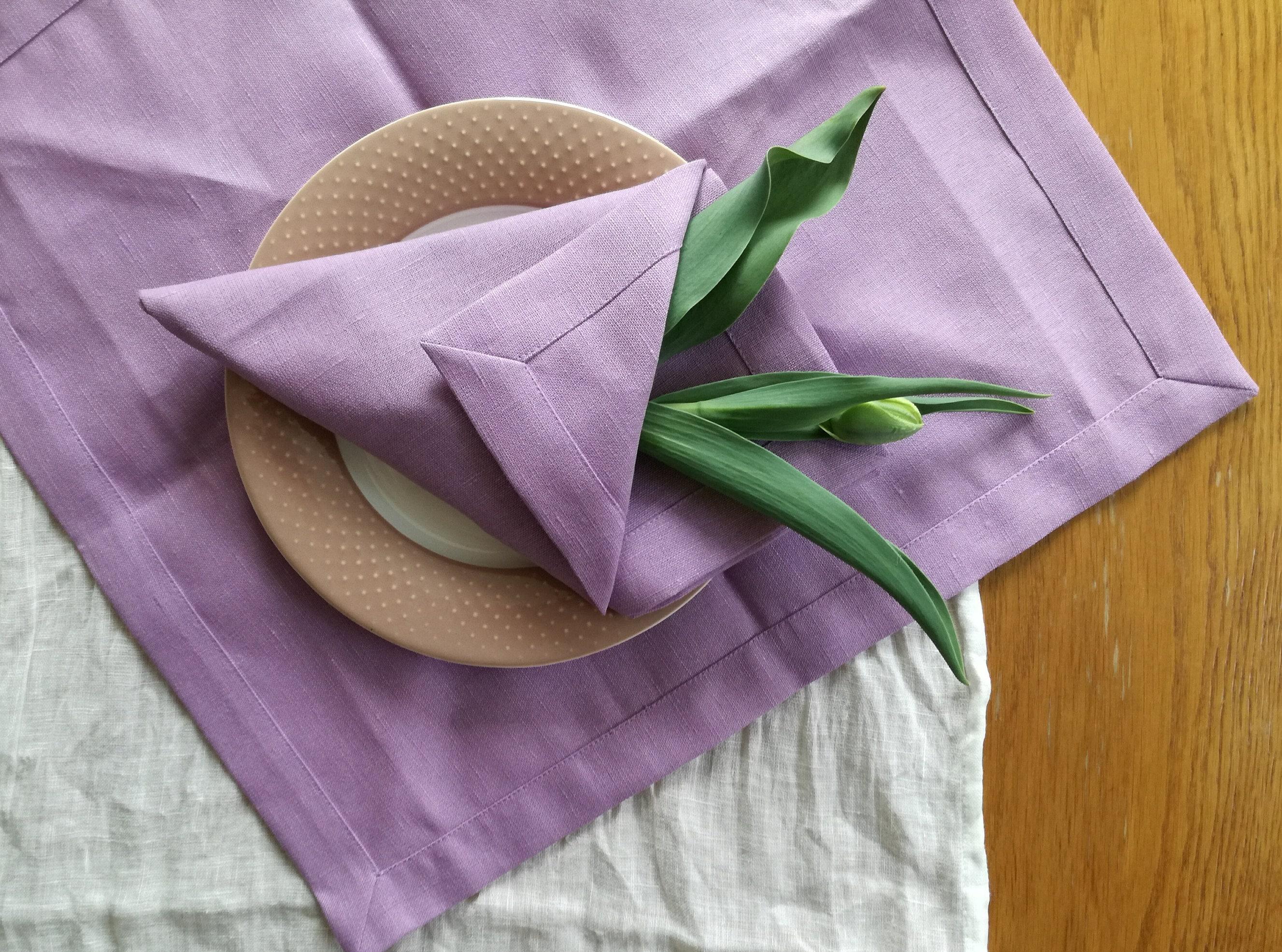 Light Violet Linen Tablecloth   Rose / Pink Lavender Linen Tablecloth    Wedding Linen Tablecloth   Elegant Linen Tablecloth   Easter Linen