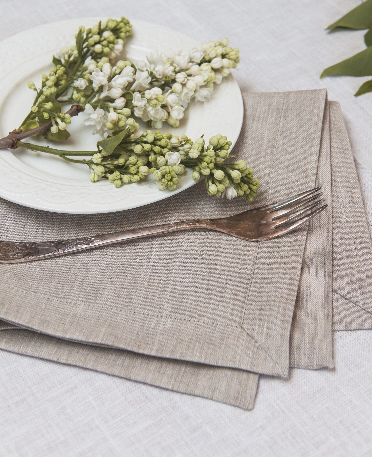 Pure Linen Placemat Set Of 6 8 10 Light Grey Linen Placemat Natural Linen Wedding Linen Placemat Rustic Placemat Christmas Placemat