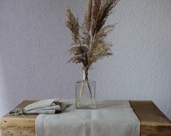 Natural Linen Table Runner, Pure Linen Table Runner, 100 % Natural Linen, Rustic Wedding Table Runner, Christmas Linen Table Runner, Gift