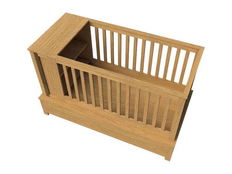 Baby Crib Plans Diy Newborn Bed Sleeper Storage Nursery Etsy