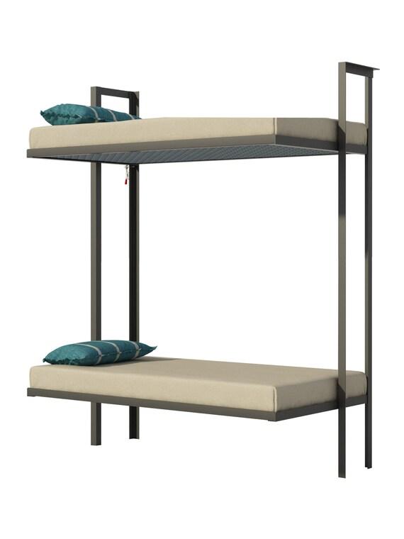 Folding Bunk Bed Plans Diy Bedroom Furniture Kids Adult Etsy