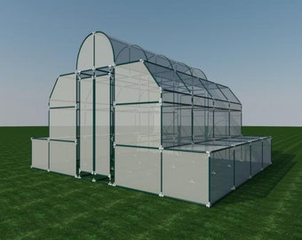 Build your own 18' X 20' PVC Greenhouse (DIY Plans) Fun to build! Save Money!