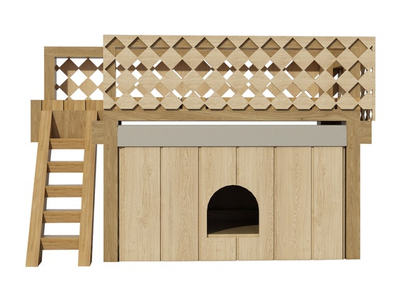 Instant Kennel Floor : Dog house plans w roof deck diy medium outdoor wooden pet