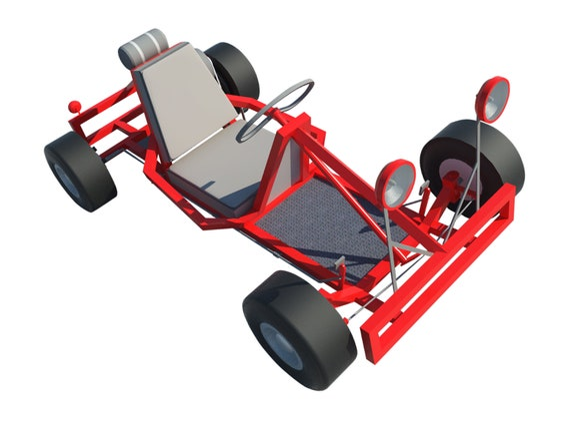 Go Kart Plans DIY Racing Vehicle Wheel Rider Outdoor Sports Build Your Own