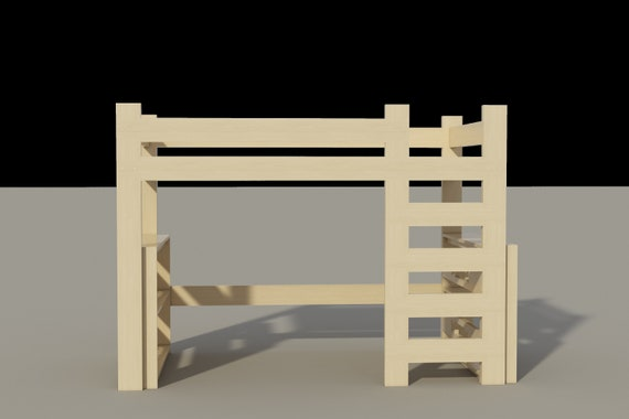 Loft Bed Plans Diy For Kids College Dorm Woodworking Furniture Build Your Own