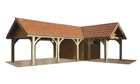 Carport Plans DIY Outdoor Canopy Car Shelter Gazebo Garage ...